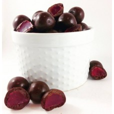 Dark Chocolate Raspberries 250g