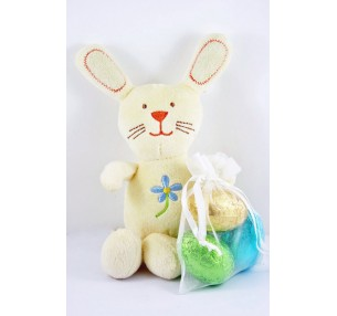 Plush Bunny with Egg Bag