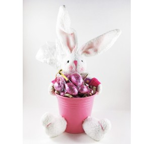 Thumper Rabbit with Mini Eggs Pink