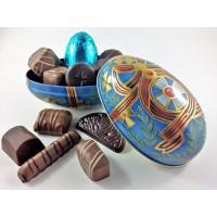 Russian Egg Tin - Blue