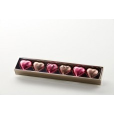 Foiled Hearts Gift Box - Pink & Mocha