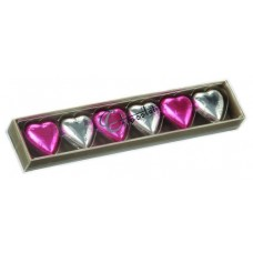 Chocolatier Foiled Hearts Gift Box