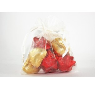 Stars & Hearts Bag - Red/Gold