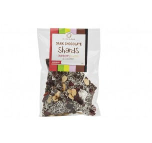 Dark  Chocolate Shards with Cranberry, Almond & Coconut