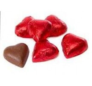 Milk Chocolate Hearts Red 1kg