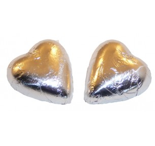 Milk Chocolate Hearts Silver 1kg